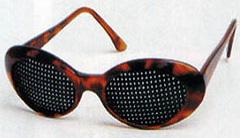 montura con lentes estenopeicas John Hercshel   Adolf Fick