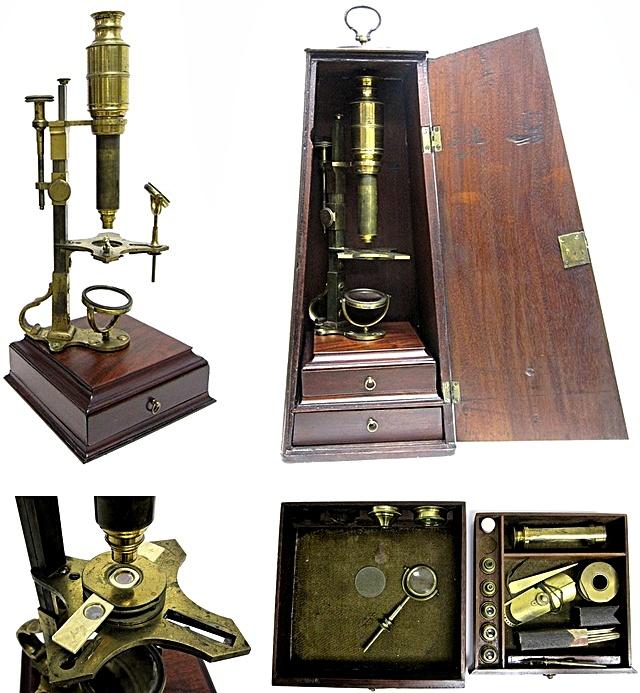 Microscopio de John Cuff, 1770