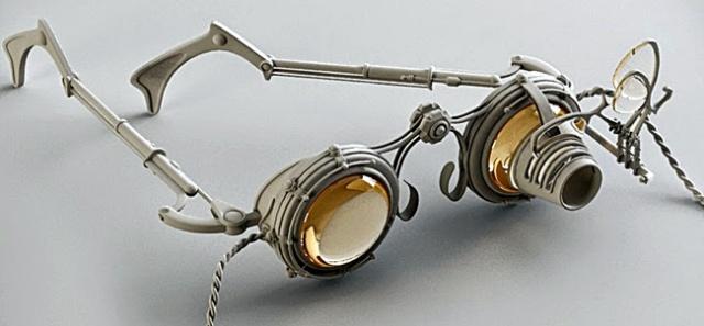 Diseño de gafas Steampunk