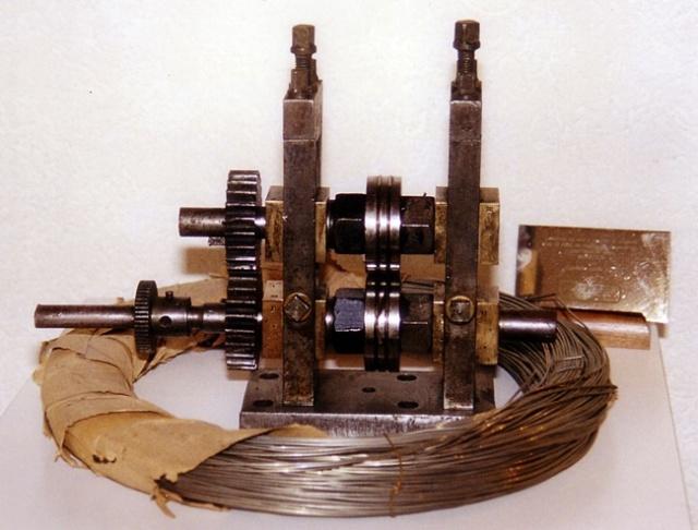 Maquinaria y alambre para perfilar, 1850