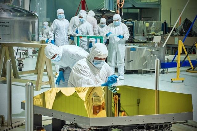 Espejo de berilio del telescopio Espacial James Webb