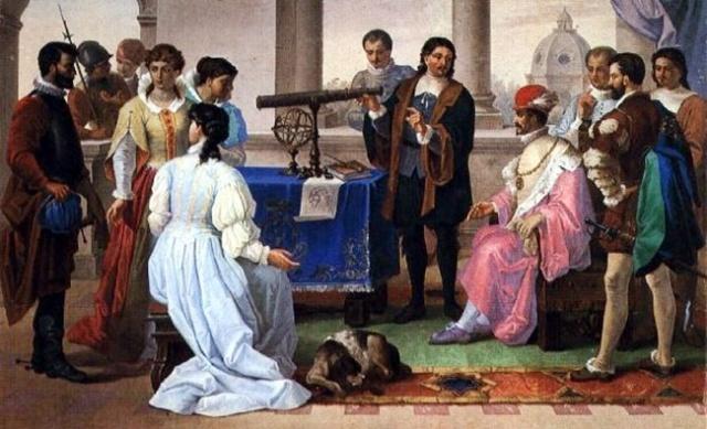 Eustachio Divini ante la corte de Federico II de Medici