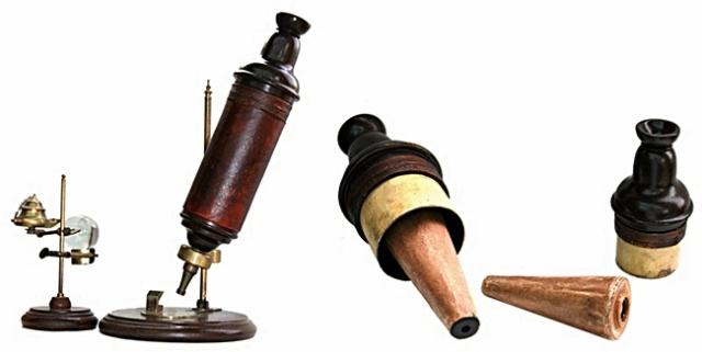 Microscopio de Robert Hooke, 1670