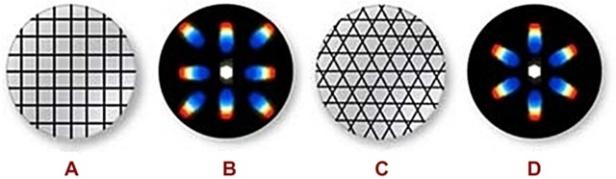 Red de patrones complejos de difracción